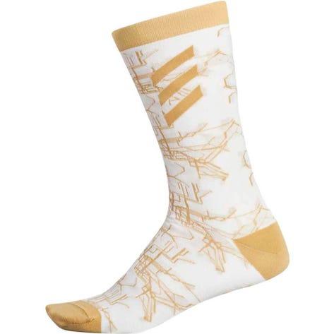 adidas Golf Socks - Adicross Print Crew - Chalk White AW19