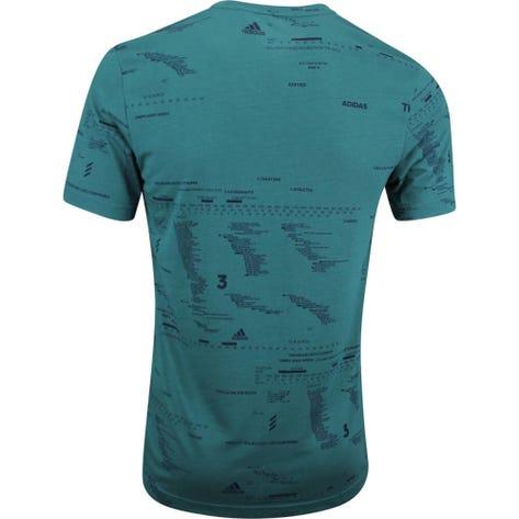 adidas Golf T-Shirt - Adicross Graphic Text Tee - Tech Green AW19