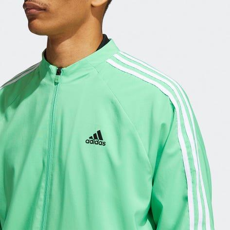 adidas Golf Jacket - Lined Three Stripes FZ - Screaming Green AW21
