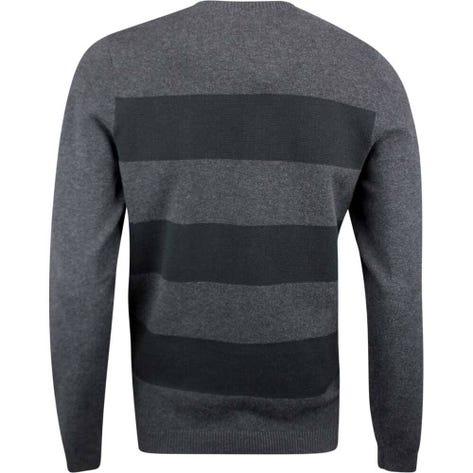 Adidas Golf Jumper - Blended Crew Sweater - Black Heather SS19