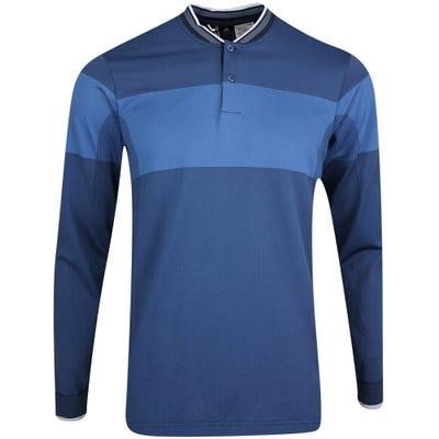 adidas Golf Shirt - Primeknit LS Polo - Night Navy AW21
