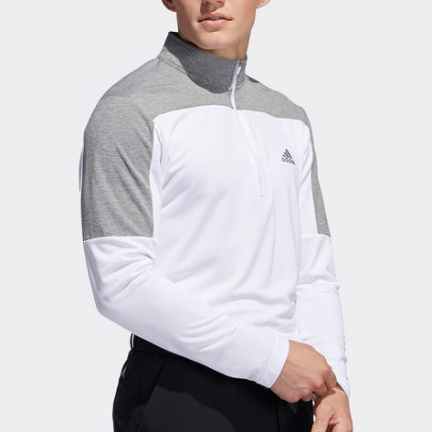 adidas Golf Pullover - Lightweight QZ - White AW21