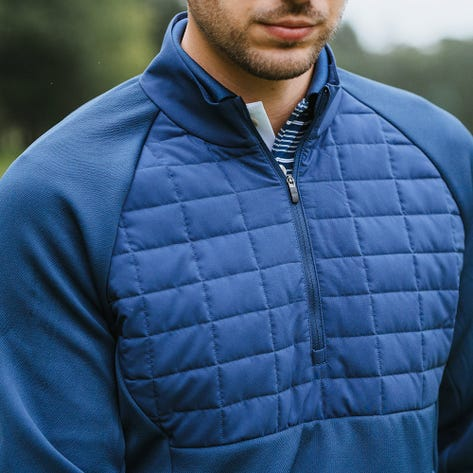 adidas Golf Pullover - Quilted Statement QZ - Crew Navy AW21