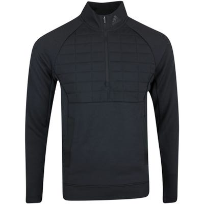 adidas Golf Pullover - Quilted Statement QZ - Black AW21