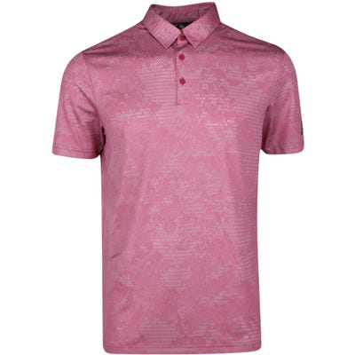 adidas Golf Shirt - Camo Jacquard Polo - Wild Pink SS21