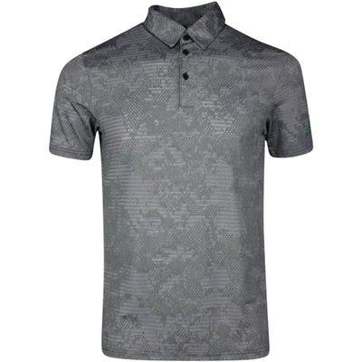 adidas Golf Shirt - Camo Jacquard Polo - Black SS21