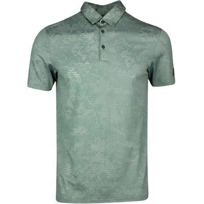 adidas Golf Shirt - Camo Jacquard Polo - Green Oxide SS21