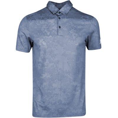 adidas Golf Shirt - Camo Jacquard Polo - Crew Navy SS21