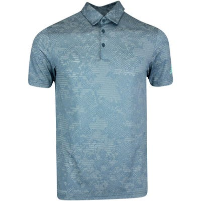 adidas Golf Shirt - Camo Jacquard Polo - Wild Teal SS21