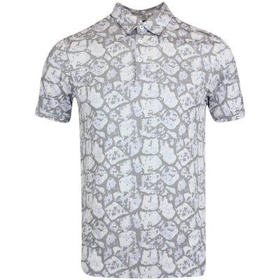 adidas Golf Shirt - Cobblestone Print Polo - Violet Tone AW21