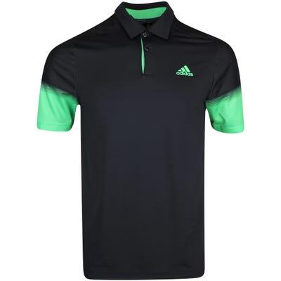 adidas Golf Shirt - Statement Heat Ready Polo - Black AW21