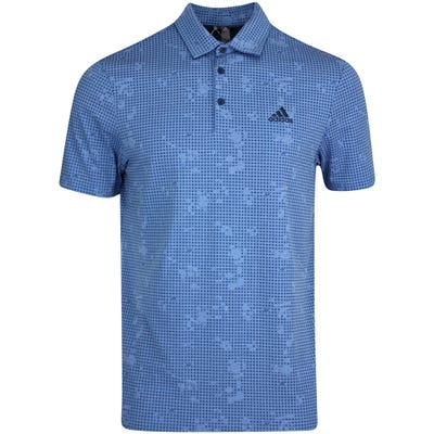 adidas Golf Shirt - Night Camo Print Polo - Focus Blue AW21
