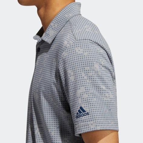 adidas Golf Shirt - Night Camo Print Polo - Grey Three AW21