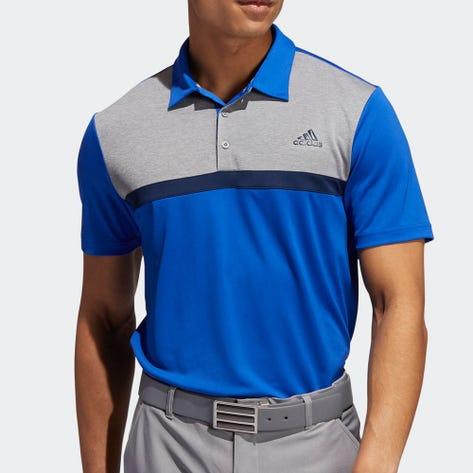 adidas Golf Shirt - Novelty Colour Block Polo - Royal Blue AW20