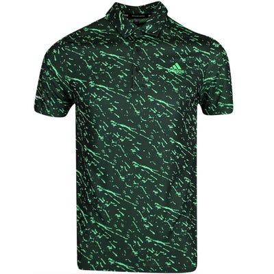 adidas Golf Shirt - Primeblue Graphic Polo - Black AW21
