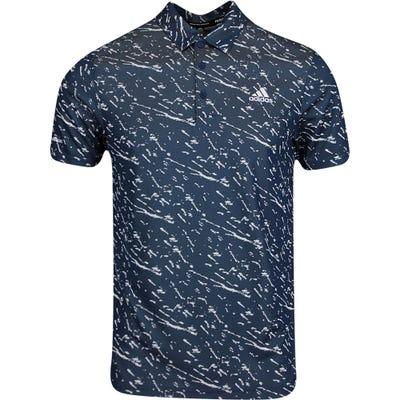 adidas Golf Shirt - Primeblue Graphic Polo - Crew Navy AW21