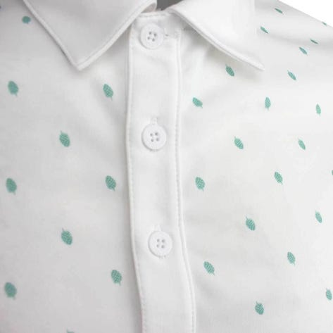 Adidas Golf Shirt - Core Printed Polo - White SS19