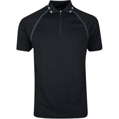 adidas Golf Shirt - EQT Zipper Pique Polo - Black SS21