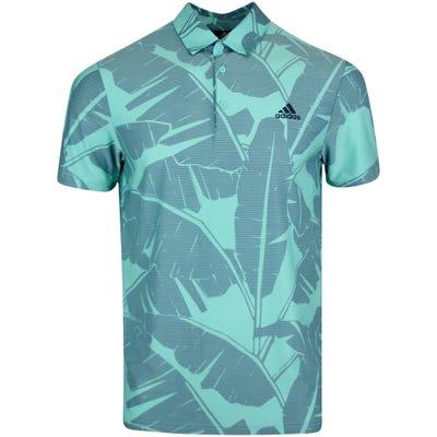 adidas Golf Shirt - Vibes Print Polo - Acid Mint SS21