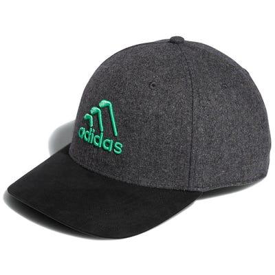 adidas Golf Cap - 3 Stripe Club Snapback - Black Melange AW21