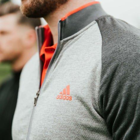 adidas Golf Jumper - Midweight Textured FZ - Grey Six SS20