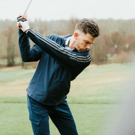 adidas Golf Jacket - Three Stripes Shacket - Collegiate Navy SS20