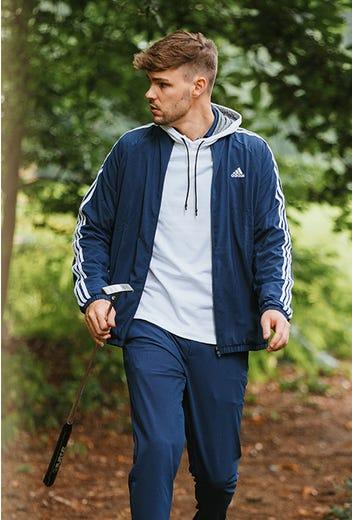 adidas Golf - Three Stripes Navy Golf Jacket - GP Winter Campaign 2021