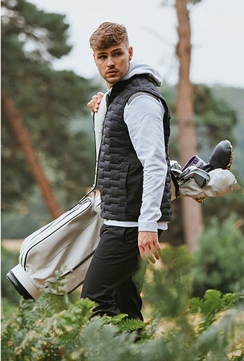 adidas Golf - Black Quilted Gilet - GP Winter Campaign 2021