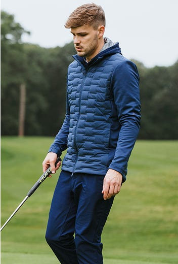 adidas Golf - Navy Blue Quilted Jacket - GP Winter Campaign 2021