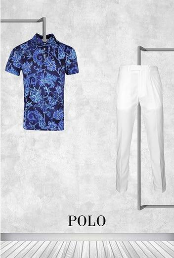 Billy Horschel - Masters Friday - Navy Paisley Ralph Lauren Polo Shirt 2021