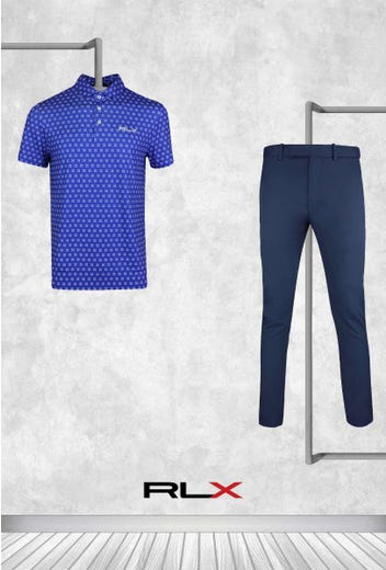 Billy Horschel - US PGA Saturday - Blue RLX Golf Shirt 2021