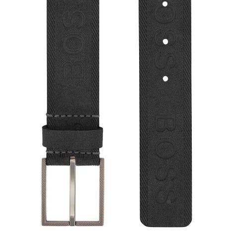 BOSS Golf Belt - Tril-Sd Sz35 Leather - Black FA20