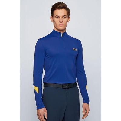 BOSS Golf - Blue Long Sleeve Hybrid QZ - Spring 2021