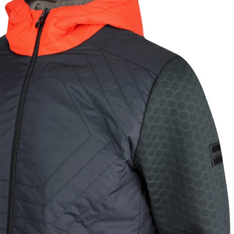 BOSS Golf Jacket - Sawotwo Hybrid Hoodie - Black FA21