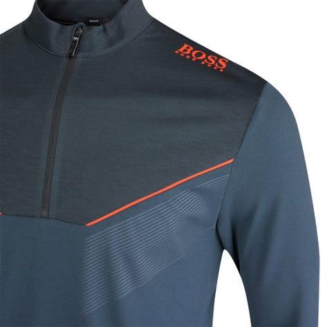 BOSS Golf Pullover - Piraq Slim - Black FA21