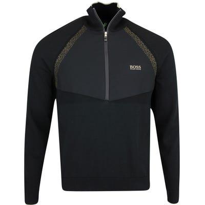 BOSS Golf Pullover - Zaxel Hybrid QZ - Black FA21