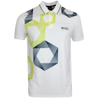 BOSS Golf Shirt - Paddy MK 2 Slim - Training White FA21
