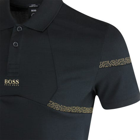 BOSS Golf Shirt - Paul Pixel Slim - Black FA21