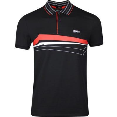 BOSS Golf Shirt - Paule 8 - Black SP21