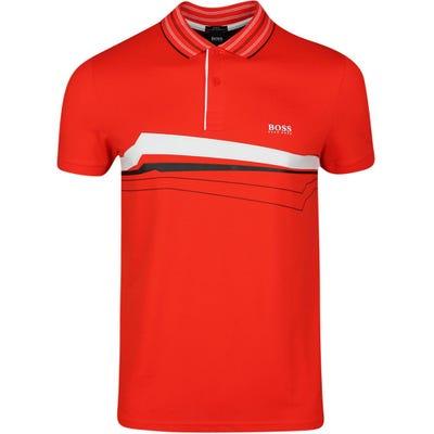 BOSS Golf Shirt - Paule 8 - Fiery Red SP21