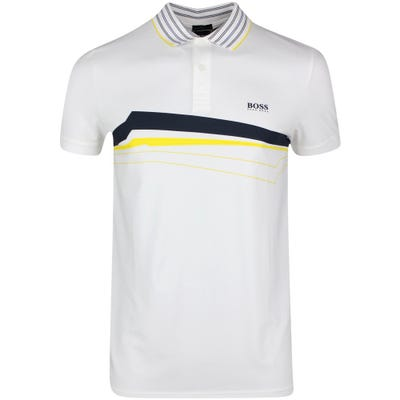 BOSS Golf Shirt - Paule 8 - White SP21