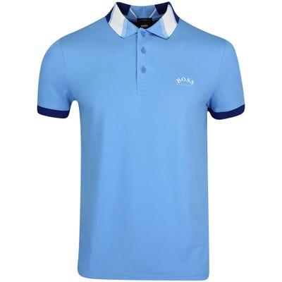 BOSS Golf Shirt - Paule Slim - Azure Blue FA21