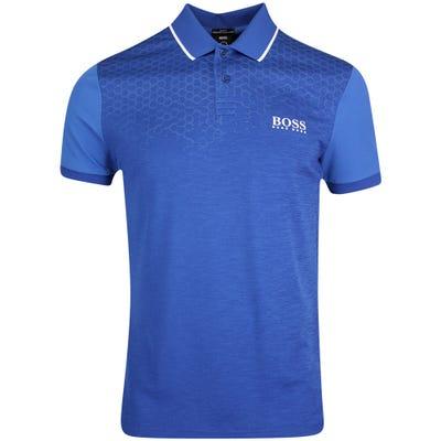 BOSS Golf Shirt - Pauletech 1 Slim - Monaco Blue FA21