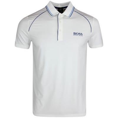 BOSS Golf Shirt - Pauletech Slim - Training White FA21