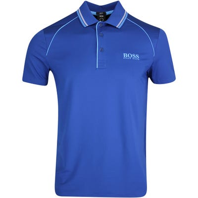 BOSS Golf Shirt - Pauletech Slim - Limoges Blue FA21