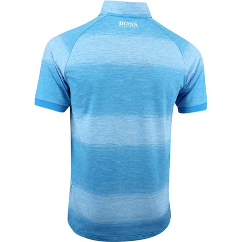 BOSS Golf Shirt - Plade Pro - Blue Danube FA19