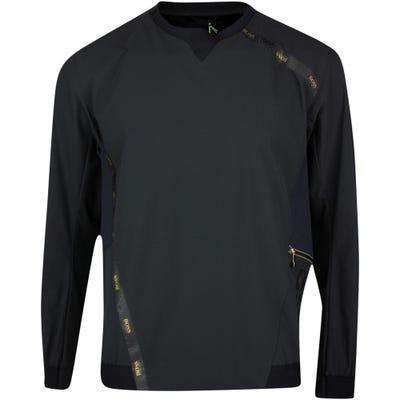 BOSS Golf Pullover - J Lion Wind Sweater - Black - Gold SP21
