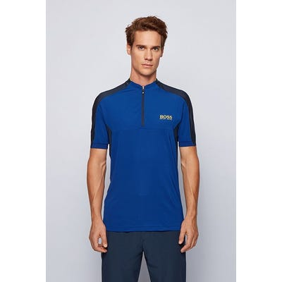 BOSS Golf - Blue Quarter Zip Polo Shirt - Spring 2021