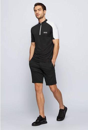 BOSS Golf - Black Zipper Golf Shirt - Spring 2021