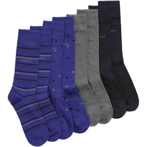 BOSS Socks - 4 Pack Gift Set - Blue Multi PS19